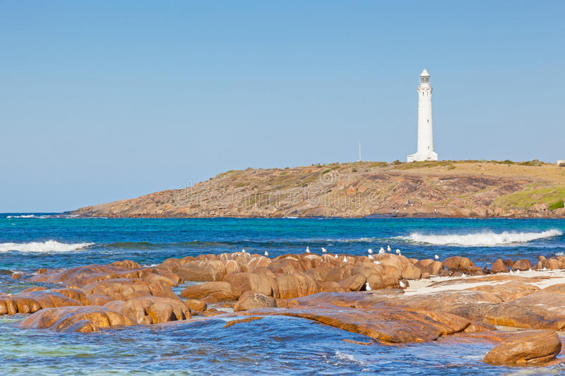 Cape Leeuwin Lighthouse. At the south-western tip of Australia, where two oceans meet royalty free stock photos