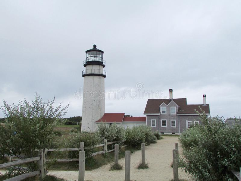Cape Cod Highlands Lighthouse stock images