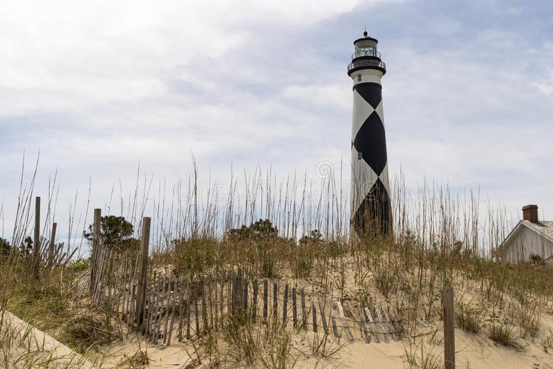 Cape Lookout Lighthouse Core Banks South Carolina Waterfront stock photos