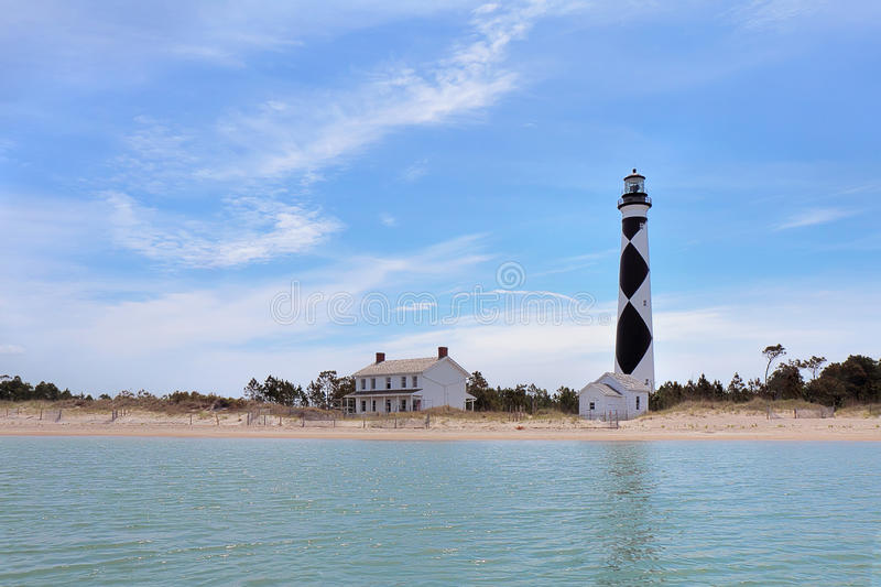 Cape Lookout lighthouse on the Southern Outer Banks of North Car stock image
