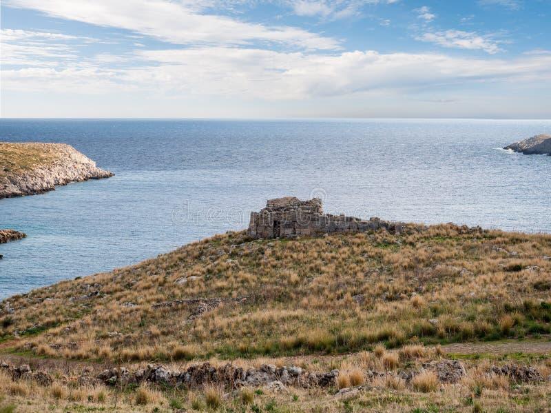 Cape Matapan in Mani, Laconia, Peloponnese, Greece. Cape Matapan or Tainaron in Mani, Lakonia, Peloponnese, Greece stock photo