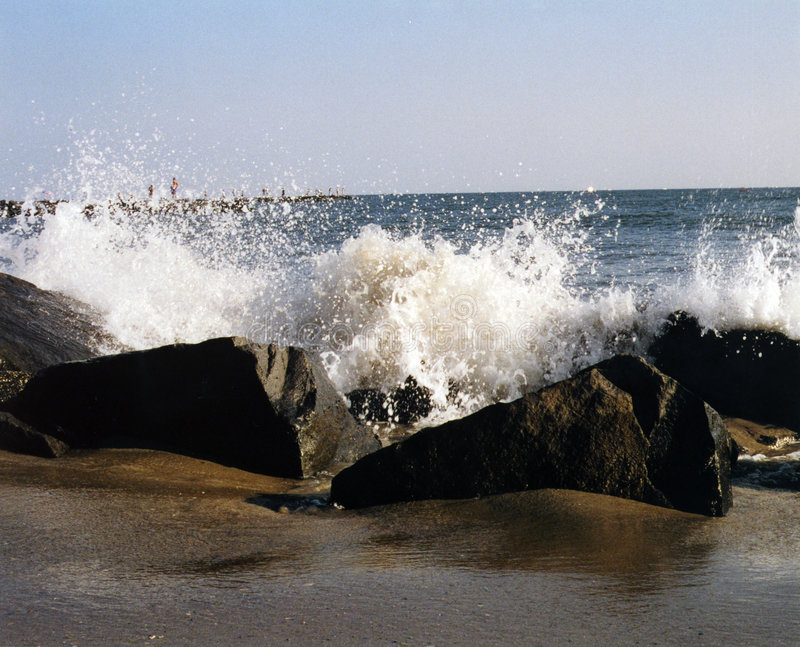 Cape May Splash royalty free stock photography