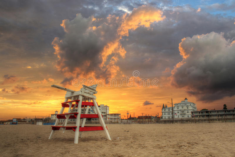 Cape May Sunset royalty free stock image
