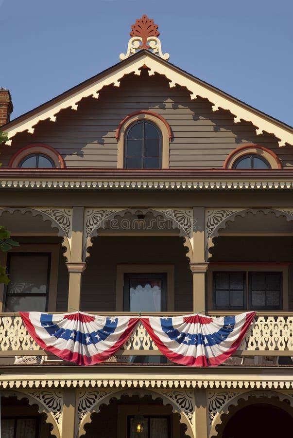 New Jersey Victorian row house royalty free stock photos