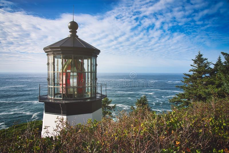Cape Mayers and Sunset. Photo of the Cape Mayers light at the sunset time stock image
