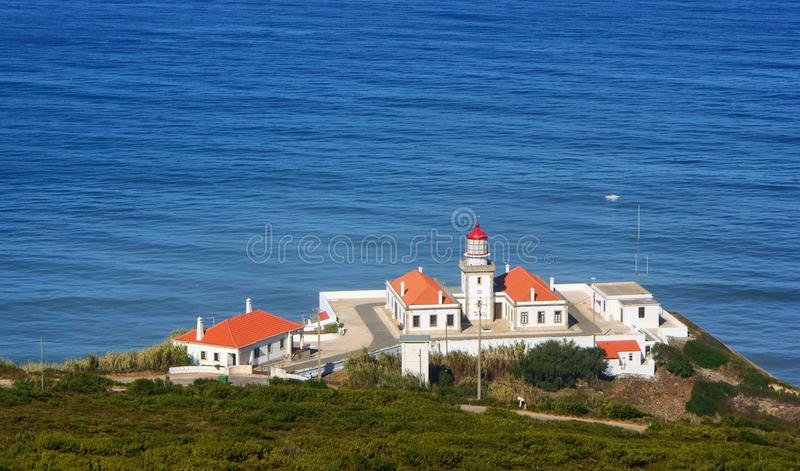 Download Cape Mondego Lighthouse stock photo. Image of outdoors - 87531186