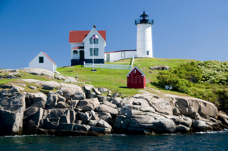 Cape Neddick Lighthouse royalty free stock photography