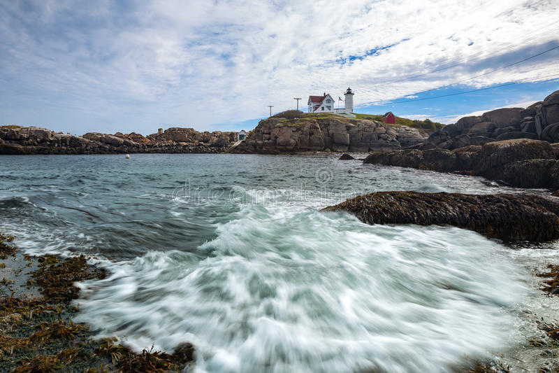 Cape Neddick Lighthouse Nubble Lighthouse at Old York Village, royalty free stock images