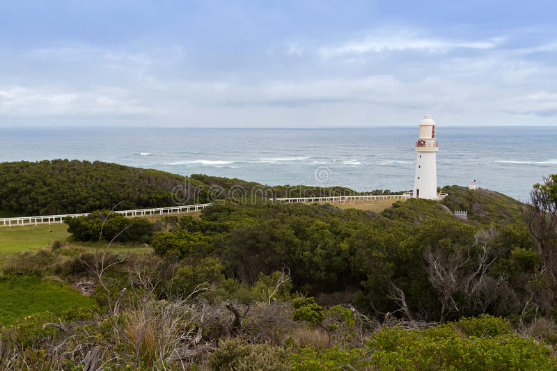 Cape Otway lighthouse at Great Ocean Road in Victoria, Australia royalty free stock photos