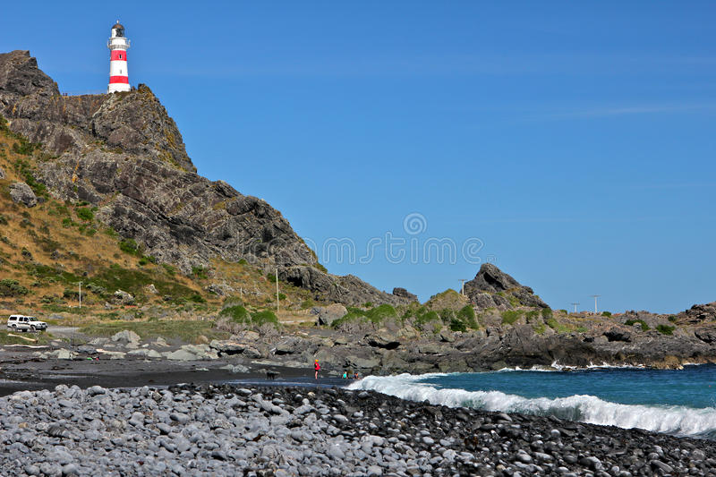 Cape Palliser Lighthouse royalty free stock photography