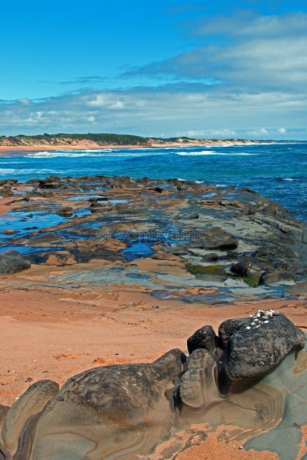 Cape Patterson coastline at Kilcunda Australia. Cape Patterson coastline at Kilcunda Victoria Australia stock photo