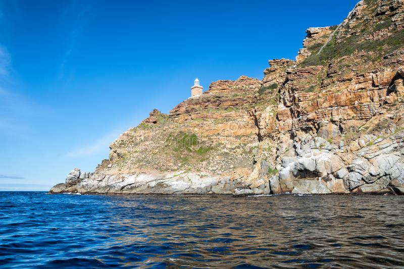 Cape Point. A Cape Point landscape from the water royalty free stock photo