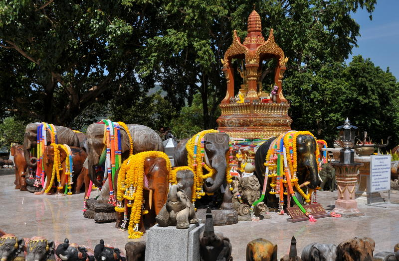 Download Cape Promthep, Thailand: Elephant Shrine Editorial Stock Photo - Image: 18216068