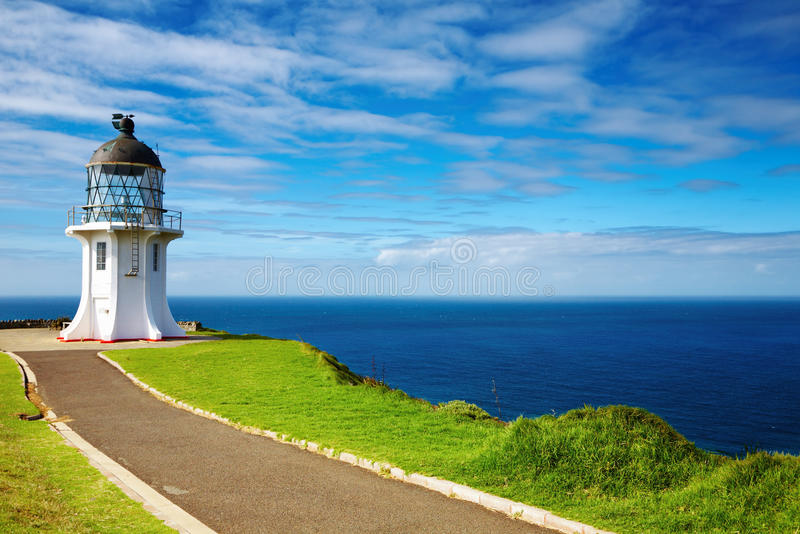 Cape Reinga Lighthouse. North edge of New Zealand stock photos
