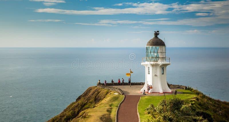 Cape Reinga Lighthouse. North edge of New Zealand royalty free stock image