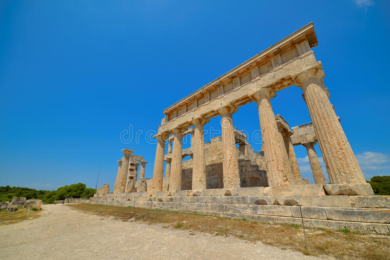 Download Cape Sounion. The Site Of Ruins Of An Ancient Greek Temple Of Poseidon, The God Of The Sea In Classical Mythology. Stock Photo - Image: 41549536