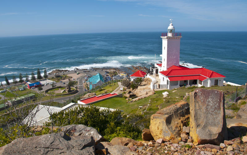 Cape St Blaize lighthouse, Mossel Bay, South Africa. A lighthouse in Mossel Bay, South Africa royalty free stock images