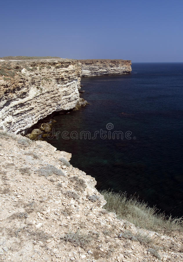 Cape Tarhankut in Crimea stock images