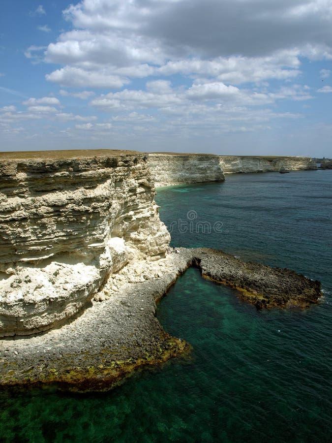 Cape Tarhankut in Crimea, Black sea royalty free stock photo