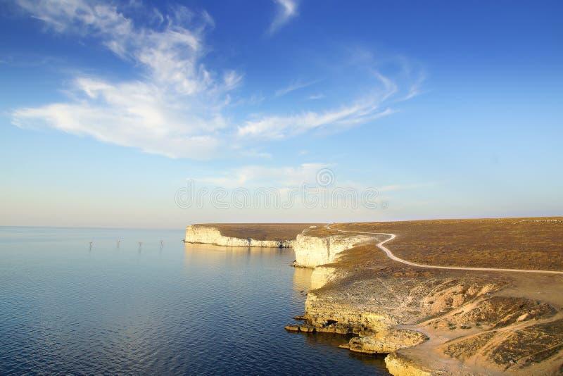 Cape Tarhankut. Crimea royalty free stock image