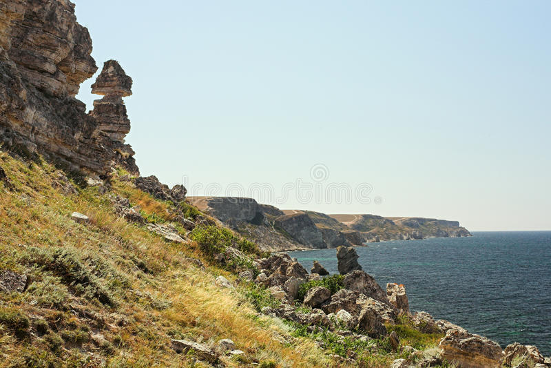 Cape Tarkhankut royalty free stock images