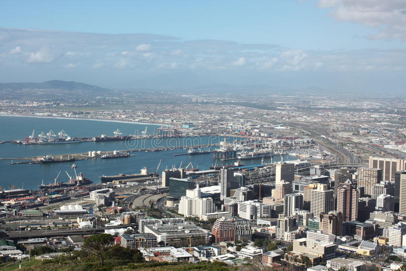 Cape Town. Skyline from above, in South Africa stock photo