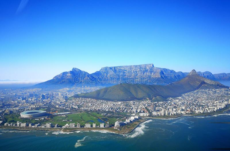 Cape Town aerial view royalty free stock photos