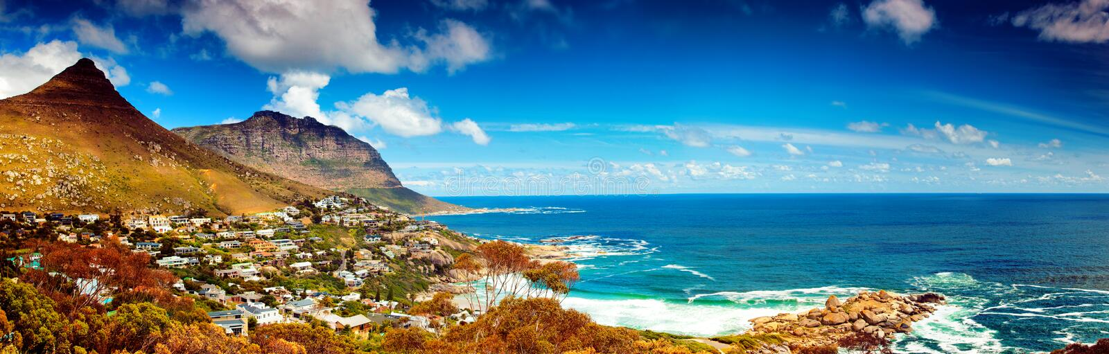 Cape Town city panoramic image stock image