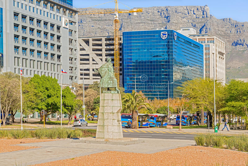 Cape Town du centre avec la montagne de Tableau photos libres de droits