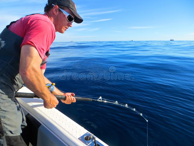 Cape Town Fisherman royalty free stock photo