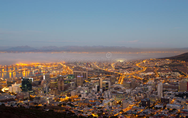 Cape Town Fog Bank - South Africa stock images