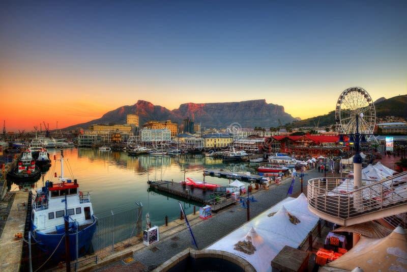 Cape Town hamn, Sydafrika fotografering för bildbyråer