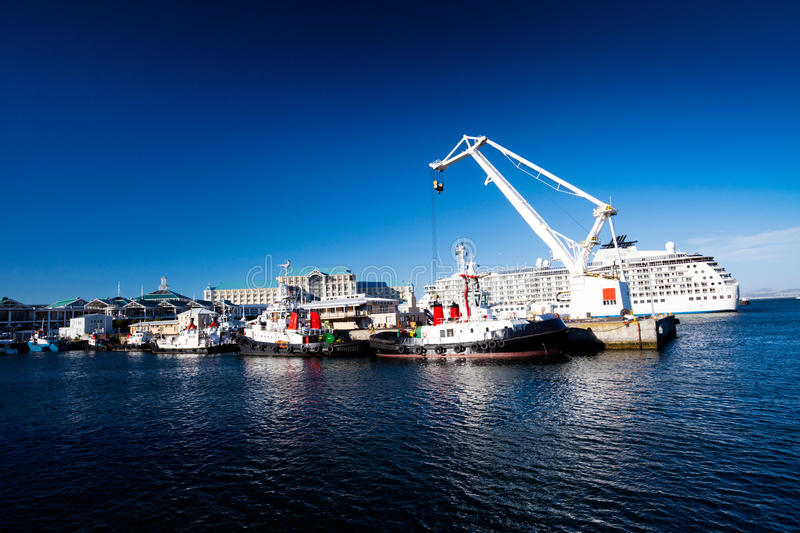 Cape town harbour stock photo