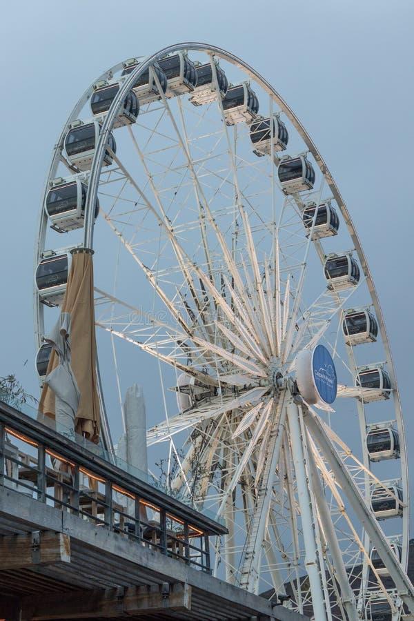 Cape Town hjul Sydafrika royaltyfria foton