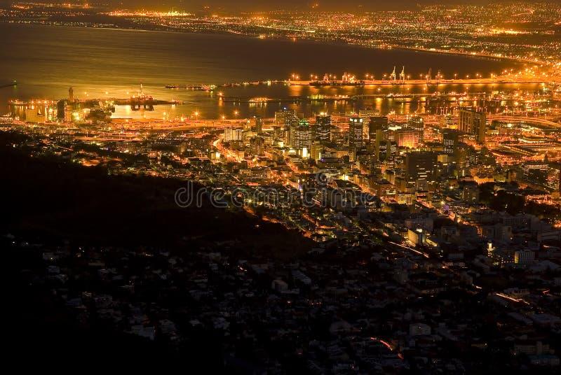 Cape Town na noite imagens de stock royalty free