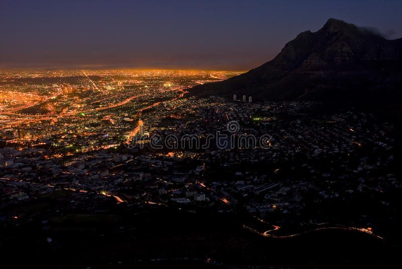 Download Cape Town at night stock photo. Image of beautiful, district - 13748908