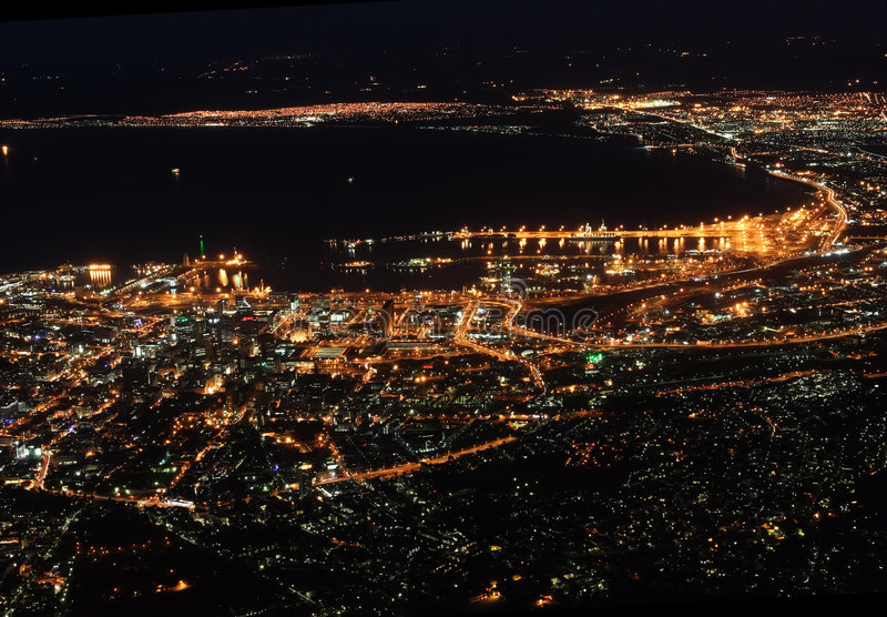 Cape Town At Night Royalty Free Stock Image