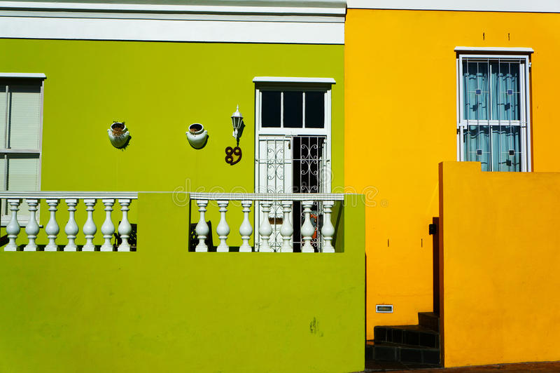 Cape Town región-BO-Kaap malaya imagen de archivo