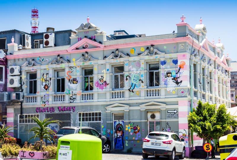 CAPE TOWN, SÜDAFRIKA - 20. DEZEMBER 2016: Foto von Charly-` s Bäckerei in Cape Town, wissen auch als Charly-` s Kuchen-Engel lizenzfreie stockfotografie