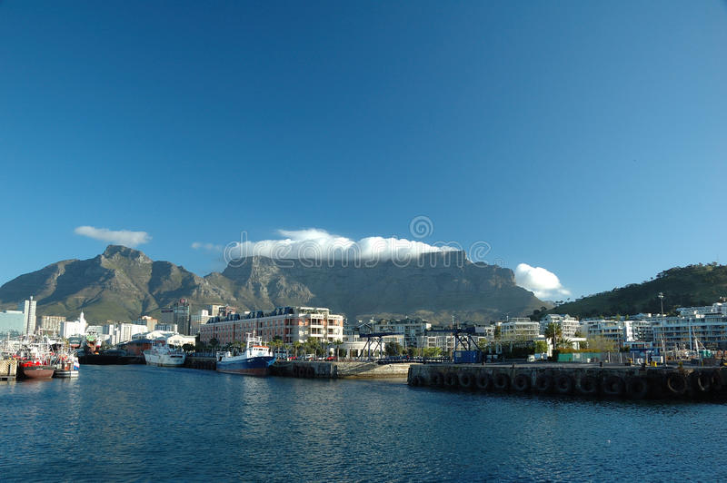 Cape Town (South Africa). View from Alfred & Victoria Waterfront. Cape Town with Table Mountain (South Africa stock photos