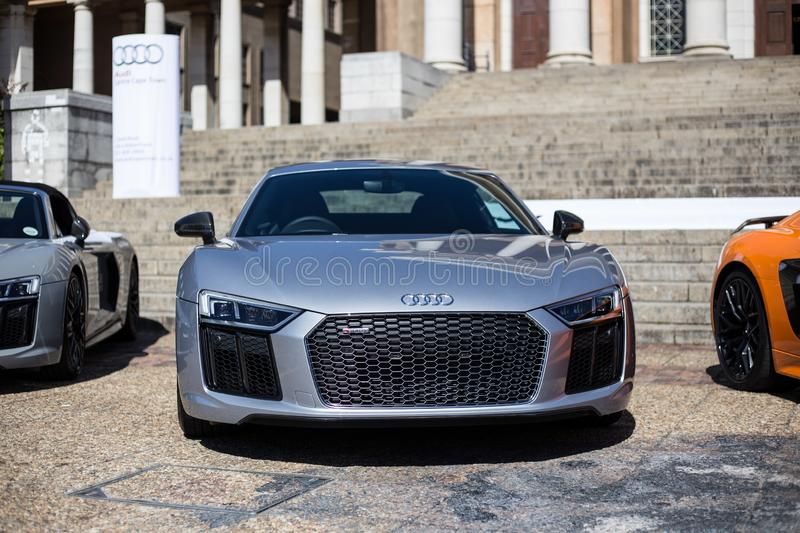 Silver Audi R8 front royalty free stock images