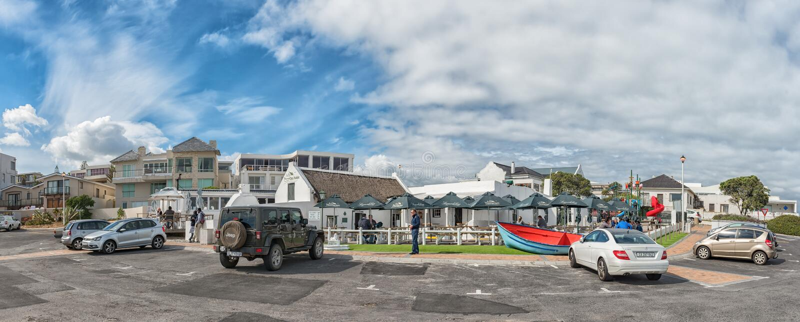 Ons Huisie, a beachfront restaurant in Bloubergstrand royalty free stock photo