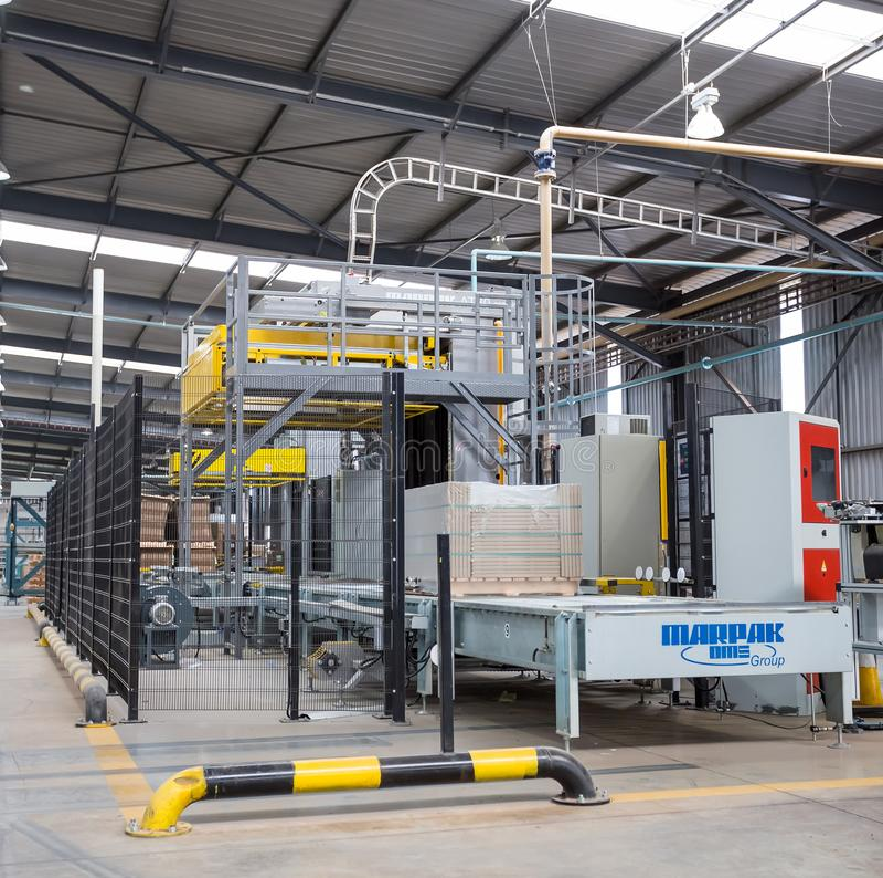 Ceramic tile manufacturing plant. stock photos