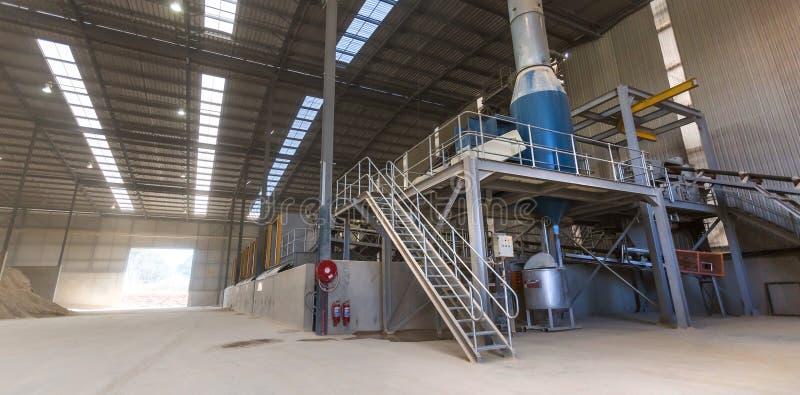 Ceramic tile manufacturing plant. stock image