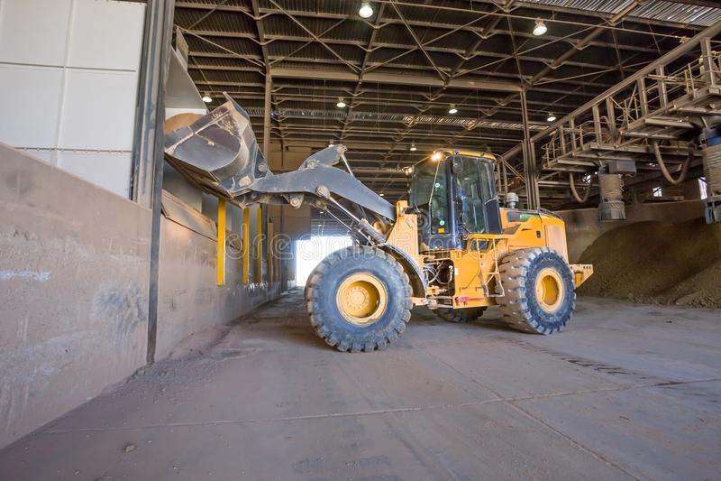 Digger truck loading clay royalty free stock photos