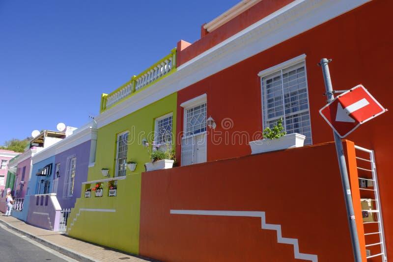 Bo Kaap street Cape Town stock photos