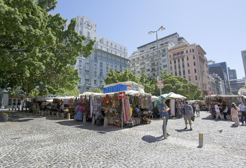 Greenmarket Square African curios stall royalty free stock images