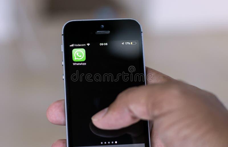 Mobile Phone Whatsapp stock photos