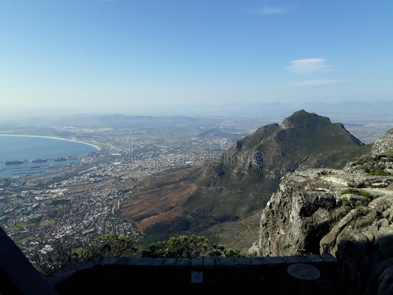 Cape Town SouthAfrica. View from TableMountain of the city and surrounding area CapeTown SouthAfrica stock photos