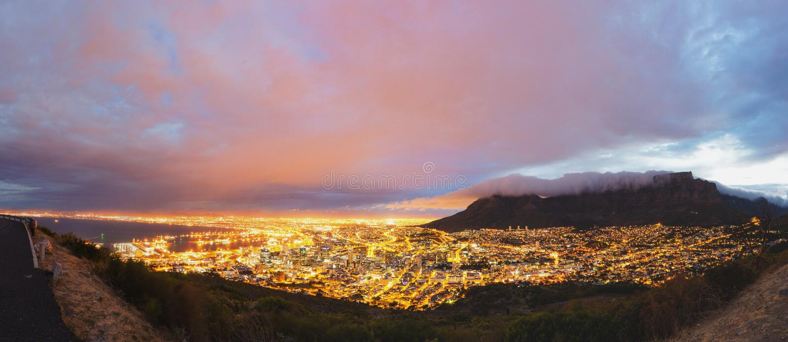Cape Town and Table Mountain panorama. South Africa stock image